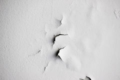 Background texture of white grunge concrete wall with peeling paint. On cement Royalty Free Stock Photo