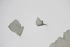 Background texture of white grunge concrete wall with peeling paint. On cement Royalty Free Stock Image