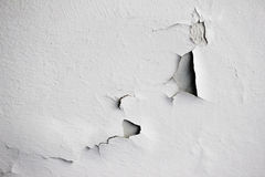 Background texture of white grunge concrete wall with peeling paint. On cement Royalty Free Stock Photos