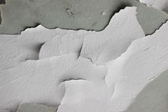 Background texture of white grunge concrete wall with peeling paint. On cement Royalty Free Stock Photography