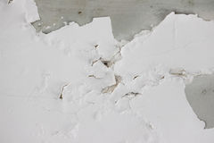 Background texture of white grunge concrete wall with peeling paint. On cement Royalty Free Stock Images