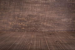 Background texture of wood in perspective. Dramatic style. Royalty Free Stock Photo