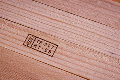 Background texture of a wooden boards. Background texture of a wooden board with an inscription Stock Photos