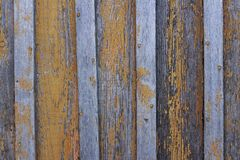 Background texture wooden boards with peeling paint orange. Copyspace background texture wooden boards with peeling paint orange stock image