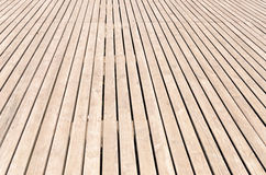 Background texture of wooden decking Royalty Free Stock Images