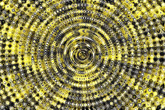 Background texture yellow color. Circle wave Stock Photography