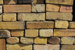 Background texture of yellow heat-resistant bricks Royalty Free Stock Image