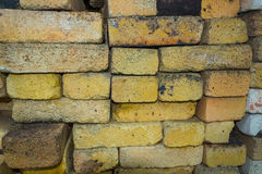 Background texture of yellow heat-resistant bricks Royalty Free Stock Photos
