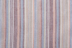 Background of textured cotton color striped Royalty Free Stock Images