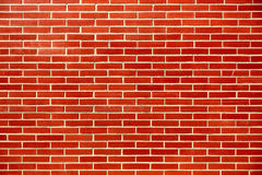 Background textured perfect brick wall. Perfect brick wall tiled pattern background Stock Images