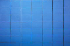 Background textured tiled wall. Blue tiled background pattern textured wall Stock Images
