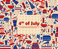 Background for 4th of July Independence Day  America. Background for 4th of July Independence Day of America in vector Stock Image