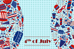 Background for 4th of July Independence Day  America. Background for 4th of July Independence Day of America in vector Royalty Free Stock Image