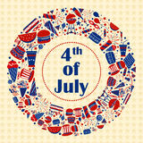 Background for 4th of July Independence Day  America. Background for 4th of July Independence Day of America in vector Stock Photo