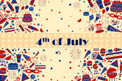 Background for 4th of July Independence Day  America. Background for 4th of July Independence Day of America in vector Royalty Free Stock Images