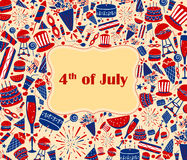 Background for 4th of July Independence Day  America. Background for 4th of July Independence Day of America in vector Royalty Free Stock Photo