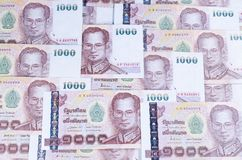 Background of thai banknote Royalty Free Stock Images