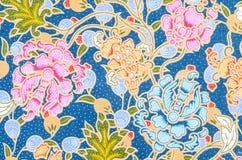 Background of Thai style fabric. Stock Photos