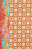 Background of Thai style fabric. Stock Photo