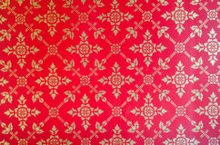 Background of Thai style fabric pattern Stock Photography