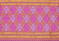 Background of Thai style fabric pattern Royalty Free Stock Photos