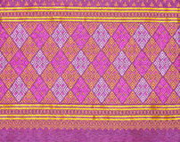 Background of Thai style fabric pattern Stock Image