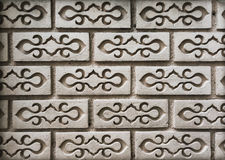 Background of Thai style patter brick on the wall. In Thailand Royalty Free Stock Photos