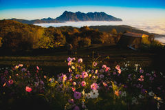 Background. Thailand Mountain Northern and SunSet Royalty Free Stock Image