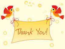 Background with thank you banner Royalty Free Stock Images