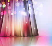 Background with theatre curtain Stock Image