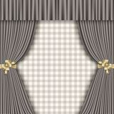 Background with theatrical curtains in shades of gray Royalty Free Stock Photo