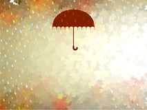 Background on a theme of autumn. EPS 10 Royalty Free Stock Photo