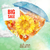 Background on a theme of autumn. Sale. EPS 10 Royalty Free Stock Image