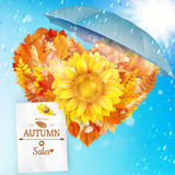 Background on a theme of autumn. Sale. EPS 10 Royalty Free Stock Images