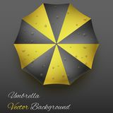 Background on a theme of autumn. Yellow umbrella. Stock Image