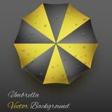 Background on a theme of autumn. Yellow umbrella. Stock Image
