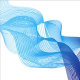 Background theme with blue waves on white background