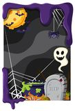 Background theme with halloween night. Illustration Stock Photography