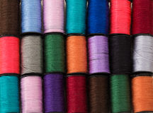 Background of threads of different colors Royalty Free Stock Image