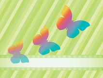 Background with three butterflies Stock Photos