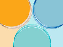 Background three circles. Abstract three circles background. Computer generated Royalty Free Stock Photo
