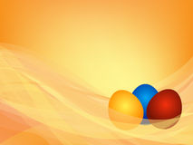 Background with three Easter eggs Stock Photos