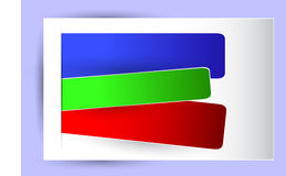 For Background - three Paper Banner in three color Stock Photos