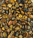 Background of tiger's eye stones Royalty Free Stock Image