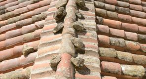 Background of tile roof Royalty Free Stock Images