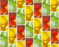 Background of tiles of fruit slices Royalty Free Stock Images