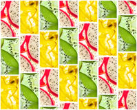 Background of tiles of fruit slices Stock Image