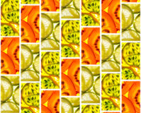 Background of tiles of fruit slices Royalty Free Stock Photos