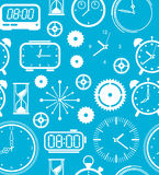 Background with time symbols Stock Image