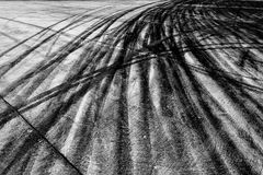 Background with tire marks on road track. Drift royalty free stock photo